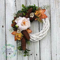 Wianek jesienny na drzwi nr. 20 Fall Diy, Fall Decor, Wreaths, Autumn, Home Decor, Decorating, Decoration Home, Door Wreaths, Fall Season