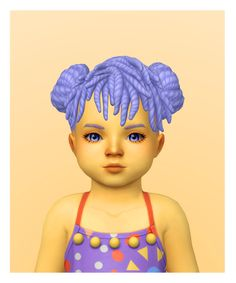Cleo Hair for toddlers in Sorbets Remix Sims 4 Children, Kids, Sims 4 Toddler, The Sims 4 Download, Sims 4 Cc Finds, Sims Cc, Sorbet, Sims Ideas, Drawing Techniques