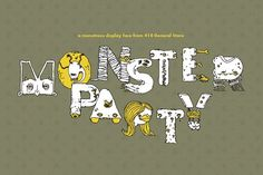 Monster Party - Typeface by 414 General Store on @creativemarket