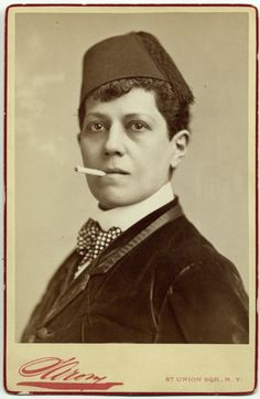 1880s; Ella Wesner, male impersonator.