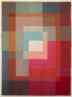 Ineke Poort Beauty in simplicity: Contemporary quilt by Ineke Poort (Netherlands): voor Joost 18 jaar, 1994 Wonderful illusions of transparency.