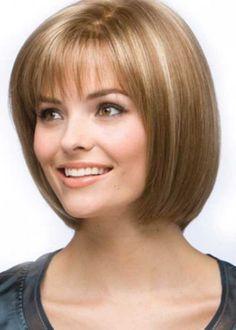 12. Chin Length Layered Bob Hairstyle