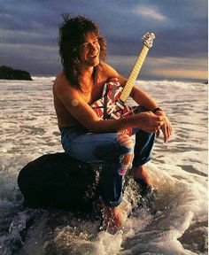 Eddie Van Halen...great shot, looks like he's got a nicotine patch on there