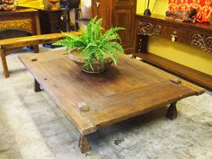 This antique weaving table has a great history and makes a beautiful coffee table.  Visit GadoGado.com for a great selection of Indonesian / Bali furniture.