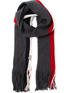 Shop Moncler logo striped fringed scarf in Tessabit from the world's best independent boutiques at farfetch.com. Over 1000 designers from 60 boutiques in ...
