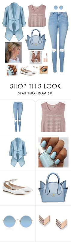 """""""~ Blue Fairytales ~"""" by hanakdudley ❤ liked on Polyvore featuring Topshop, Express, Sunday Somewhere, FOSSIL and Rimmel"""