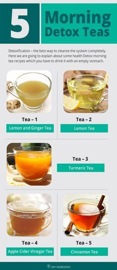 Morning Detox Teas. Detoxification – the best way to cleanse the system completely. In these days, we are consuming junk foods, unhygienic foods, fatty and processed foods, etc. as a part of the diet which in turn fills the body with full of toxins. So, this elimination is defined as detoxification.