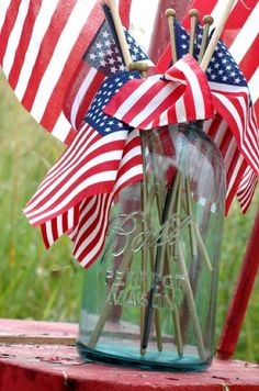 4th of July, Memorial Day, or patriotic military wedding
