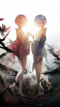 「双子」/「eyokiki」のイラスト [pixiv] #Re:ゼロから始める異世界生活 #ラム #レム