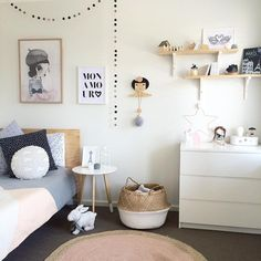 Some Bedroom love. Ivy's room makeover, almost complete. Some final little tinkery tinks. Tap for details, so many gorgeous brands Rooms Decoration, Girls Bedroom, Bedroom Decor, Bedroom Furniture, Bedroom Ideas, Fantasy Bedroom, Little Girl Rooms, Kid Spaces, Kids House