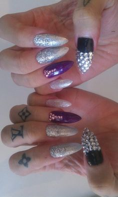 Silver Black and Purple Rockstar Gels for Jeffree Star