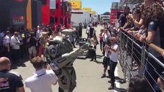 Scuderia Toro Rosso - A Robot In The Spanish Grand Prix Paddock (VIDEO)