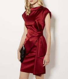 Discover brand-new clothing, shoes and accessories at Karen Millen. Night Gown Dress, Evening Dresses, Party Dress, Stunning Dresses, Elegant Dresses, Satin Mini Dress, Draped Dress, Karen Millen, Classy Outfits
