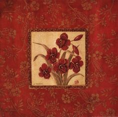 Orchids In Red