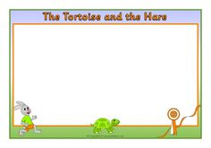 The Tortoise and the Hare A4 page borders (SB11256) - SparkleBox