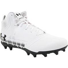 894b4c4697c Under Armour Banshee Ripshot Mid Mc Lacrosse Cleats - Mens White Black  Rogan s Shoes