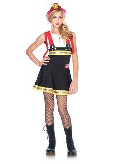 Sweetheart Firefighter Junior Teen Girl's Costume