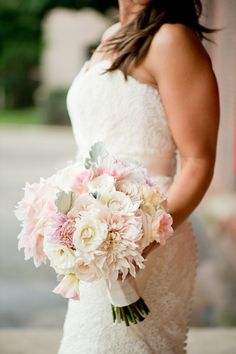 Blush Bridal Bouquet by Life in Bloom