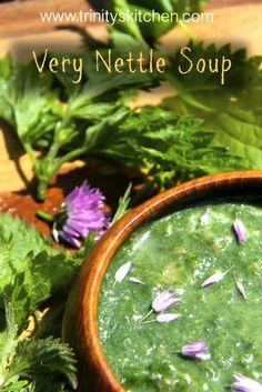 'Very Nettle' Wild Vegan Soup from Trinity's Kitchen.