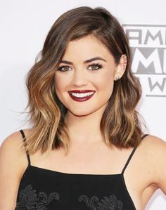 Lucy Hale's tousled lob