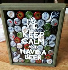 Keep Calm and have a beer shadow box.