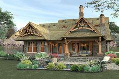 Craftsman Style House Plan - 3 Beds 2 Baths 1421 Sq/Ft Plan #120-174 Exterior - Rear Elevation - Houseplans.com