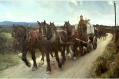 Stanhope Forbes, The Quarry Team, 1894 Cornish Light: Nottingham 1894 Revisited: 20 June – 5 September 2015 Artist Painting, Painting & Drawing, Museum Art Gallery, Perspective Art, New West, Work Horses, Horse Drawings, Art Store, Horse Art