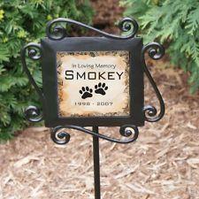 Personalized Pet Memorial Garden Stake In Loving Memory Dog Memorial Yard Stake