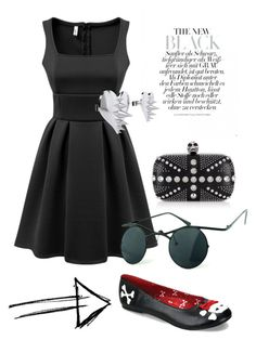 """All dolled up !"" by invisible9988 ❤ liked on Polyvore featuring Funtasma, Alexander McQueen, LUSASUL and Chicnova Fashion"