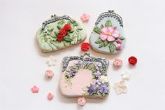 Galleta Cartera, Ladies Coin Purse cookie set by Jackie Rodriguez