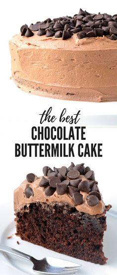 CHOCOLATE BUTTERMILK CAKE - My Spoon Your Taste