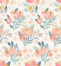 SIZE: 100 W x 108 H  This wallpaper comes with 4 panels each measuring 25 wide by 108 high.  A soft, pastel floral pattern to add feminity to your walls!  This mural is printed on our traditional paste and glue wallpaper. Its high quality matte finish allows for a beautiful statement wall. If you require a custom sizing option, please contact us via the Custom Order Request button on this listing. *email for different material options.  *Note: the color of the photo displayed may vary…