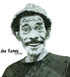Don Ramón. #Ilustración #Televisión #Humor  #Personajes  #México  #Chespirito  #Chavo