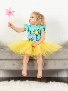 7479a9498 Yellow Girls Tutu Skirt - Kids Size 3- Layer Basic Ballet Tutu