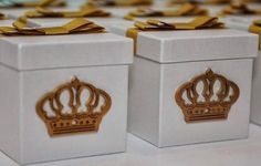 lembrancinha - caixa mdf com laço chanel + coroa provençal