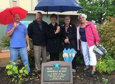 Blue Star Memorial dedicated on Main Street in Albion