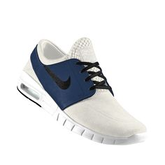 #Nike SB Stefan Janoski Max iD shown in Sail/Coastal Blue/Black *Customize Your Nike @ http://store.nike.com/us/en_us/pw/mens-nikeid-shoes/1k9Z7puZoi3 #Skateboard #Casual #Suede #Leather