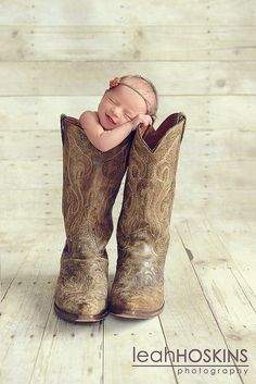 Newborn photos to replicate.  This will go good with the one we have of Haden with Cannon's boots.