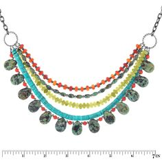 Love this necklace for a fun piece to wear this summer! Rustic River Necklace | Fusion Beads Inspiration Gallery #WhereYourJewelryBegins