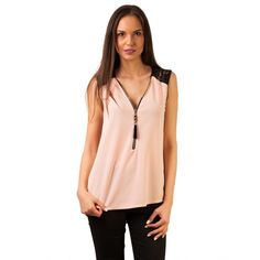 Bluza dama Casual Rhythm of Love Pale Pink Pale Pink, V Neck, Casual, Tops, Women, Fashion, Moda, Women's, Fasion