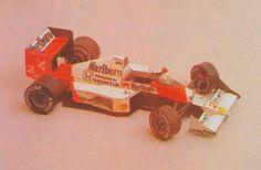 F1 Paper Model - McLaren MP4/5 Free Paper Car Download