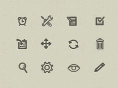 Parker Planner App #icons