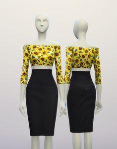 S4_ High Waist H Line Pencil Dress _ Pattern by Designer Label (6 Type) : 네이버 블로그