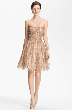 ゴールドカクテルドレス