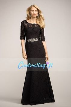 2014 Special Occasion Dresses Sheath/Column Scoop 3/4 Length Sleeve Floor Length Lace With Beading/Sequins $164.99 CGP9FJC21S - cinderellagift.com