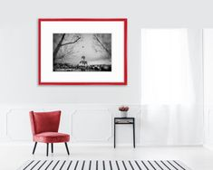 Sunset and Rain France Paris 24x36 Giclee Gallery Print, Wall Decor Travel Poster
