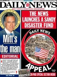 Shock: New York Daily News Endorses Romney After Picking Obama 4 Years Ago... YES!!!!!!!!!!!!!