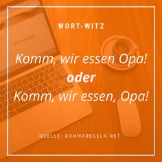 Kommas können Leben retten.   #wort-witz #wortwitz #humor #schreiben #witz #lustiges #texter #kreatives #sprüche #sprache #familie Humor, Movie Posters, Movies, Passion, Language, Funny Stuff, Writing, Jokes, Life