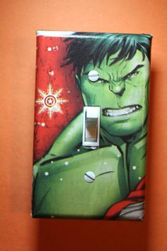 Hulk Light Switch Plate Cover Comic Book boys by ComicRecycled