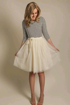 I like this style of tule skirt better because it's not so poofy.